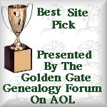 Genealogy Forum Best Site Pick Award